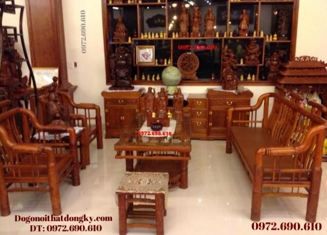 Bàn ghế đẹp Kiểu Tần gỗ hương B100