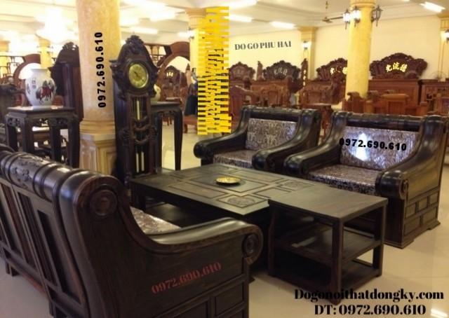 Bộ Tời Thượng Hải, Bộ bàn ghế đẹp gỗ mun B101