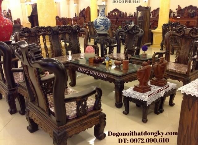 Bàn ghế gỗ mun đẹp kiểu quốc đào B102