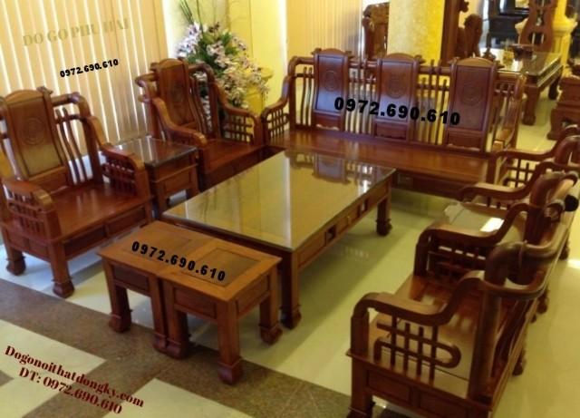Bộ bàn ghế phòng khách kiểu cổ đời Tần B106