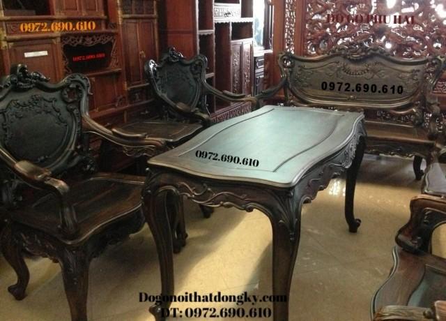 Bán Bộ bàn ghế gỗ mun kiểu louis Pháp B109