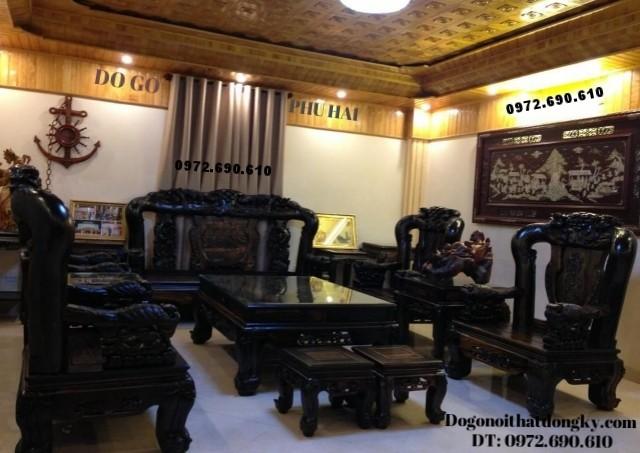 Bộ bàn ghế gỗ trắc Kiểu Công phượng V14 B111