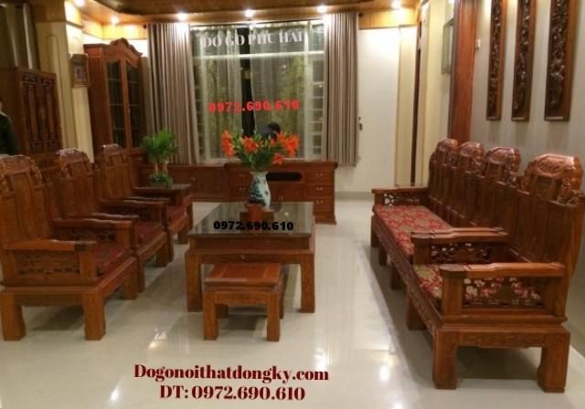 Bộ bàn ghế phòng khách đẹp giá rẻ kiểu Như ý B112