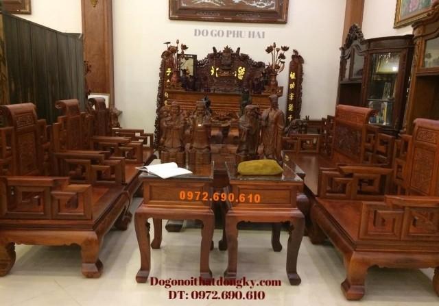 Bộ bàn ghế đồng kỵ, Bộ Sơn Thủy gỗ hương B114