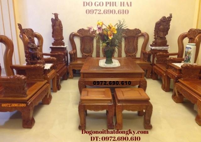 Bàn ghế đồng kỵ đẹp gỗ đinh hương quốc voi B116