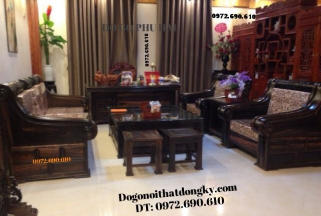 Bộ bàn ghế sang trọng kiểu Thượng hải gỗ mun B120