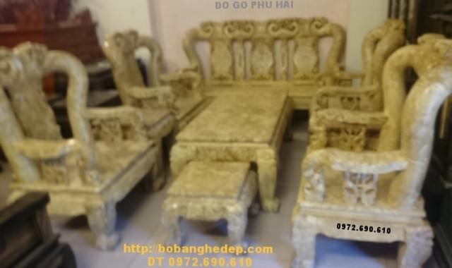 Bàn ghế gỗ nu nghiến bobanghedongky.com Cột 14cm B124