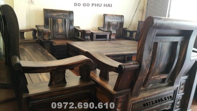 Bàn ghế đông kỵ gỗ mun kiểu mới do go dong ky B133
