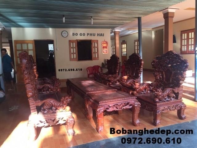 Bộ bàn ghế gỗ hương, Bộ rồng khay đồng kỵ B157