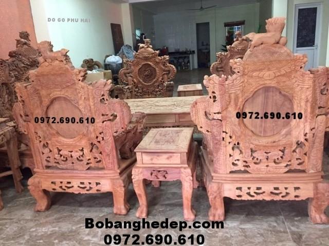 Đồ gỗ Nội thất đồng kỵ, Bộ bàn ghế đẹp cửu long Bảo Đỉnh B161