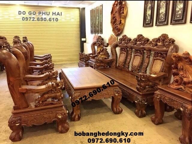 Bộ bàn ghế gỗ đinh hương hàng đồng kỵ đẹp giá rẻ B164