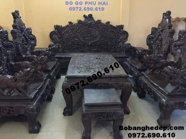 Bộ bàn ghế gỗ trắc mẫu cổ kiểu Rồng Bảo Đỉnh B165