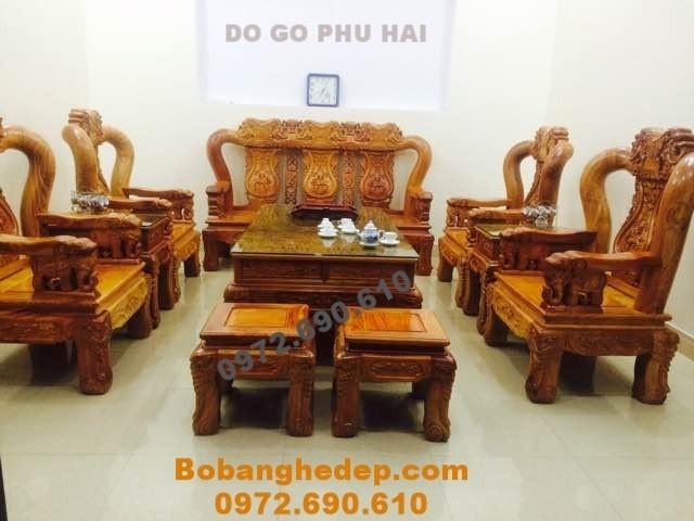 Bộ bàn ghế đẹp cho mọi nhà kiểu quốc voi B168