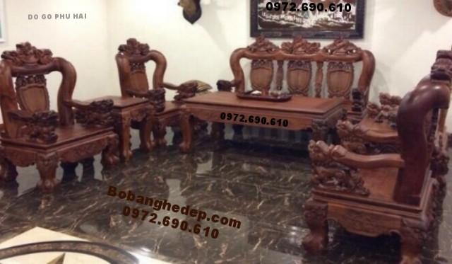 Bộ bàn ghế gỗ đinh hương kiểu nghê đỉnh mẫu cổ B170