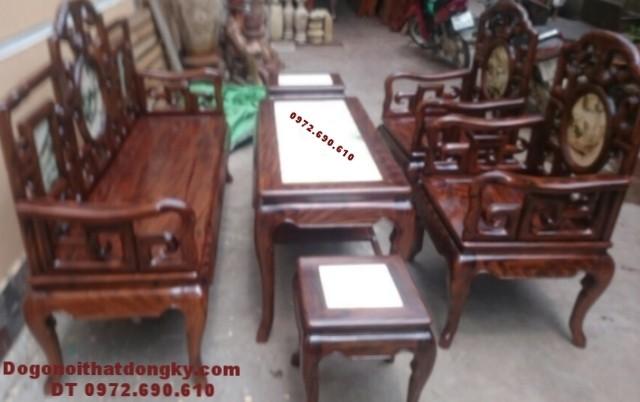 Bộ bàn ghế đẹp gỗ gụ giá rẻ kiểu cổ B.174