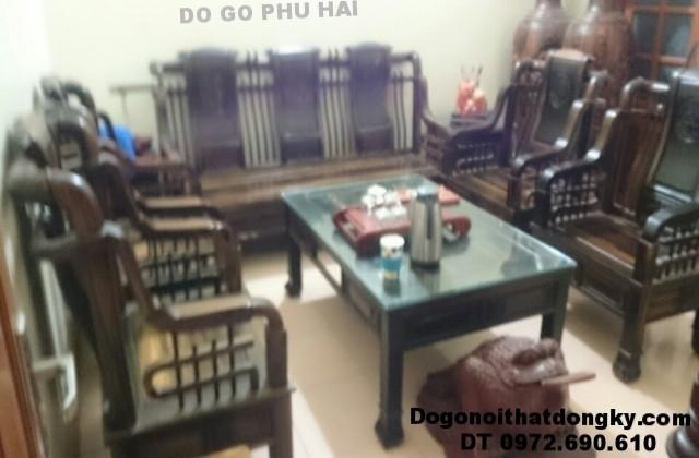 Bộ bàn ghế gỗ mun kiểu Tần cong dogodongky.net.vn B.179