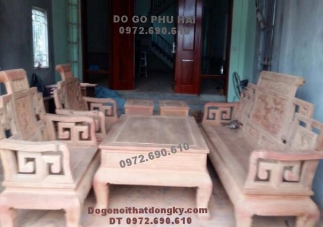 Bộ bàn ghế gỗ dinh hương mẫu Sơn thủy B.180