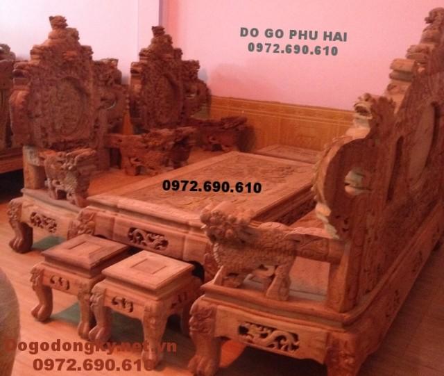 Đồ gỗ đồng kỵ, Bộ bàn ghế đẹp gỗ hương B.186