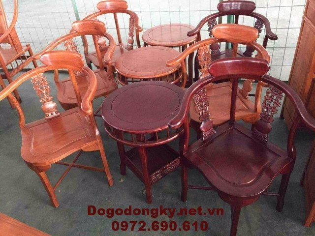 Bộ ghế cho nhà nghỉ, Bộ bàn trà ba món B.187