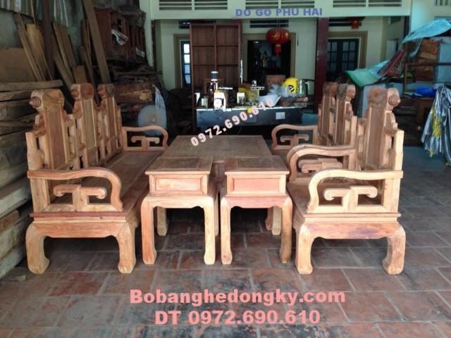 Bộ bàn ghế phòng khách gỗ đồng kỵ giá rẻ B.188