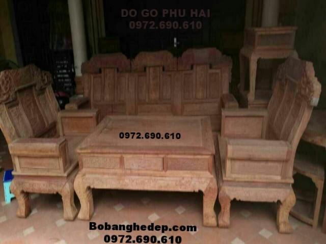 Bàn ghế phòng khách đẹp mẫu mới kiểu Âu á B.191