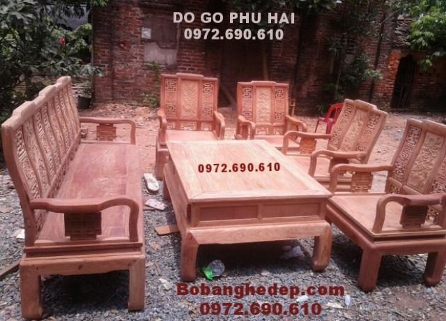 Nội thất gỗ đồng kỵ Bộ bàn ghế mẫu mới gỗ hương B.192