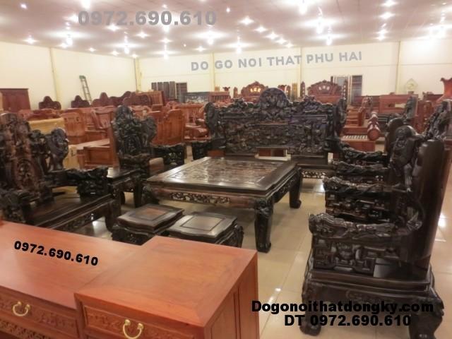 Bộ bàn ghế gỗ mun Kiểu bát mã BM<>48