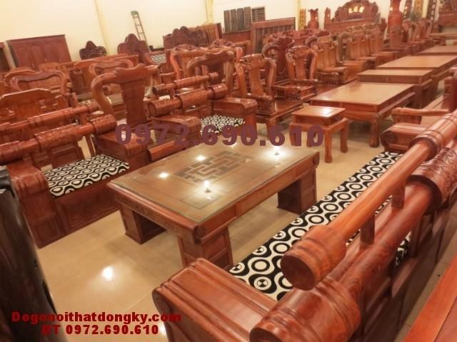 Bàn ghế gỗ đồng kỵ Mẫu hộp trống mới HT<>49