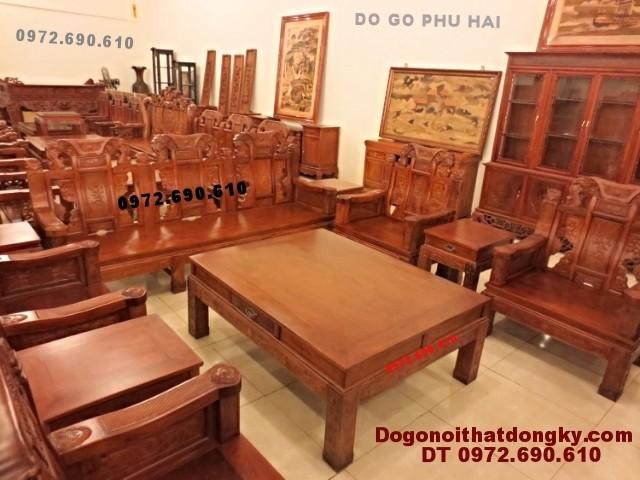 Bộ bàn ghế gỗ hương đẹp kiểu như ý NY<>50