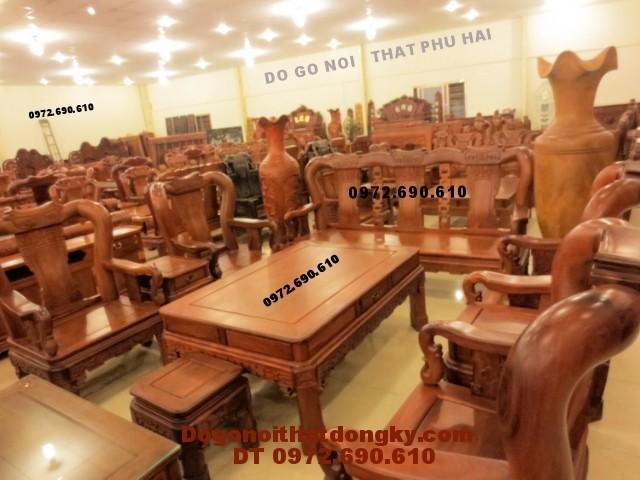 Bộ bàn ghế Đồng Kỵ gỗ hương kiểu quốc triên QT<>51