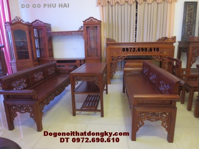 Bộ ghế trường kỷ gỗ gụ dogodongky.net.vn TK<>55