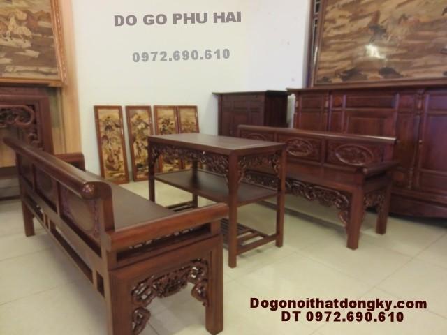 Bộ ghế trường kỷ, Trang ky kiểu cổ gỗ gụ TK<>59