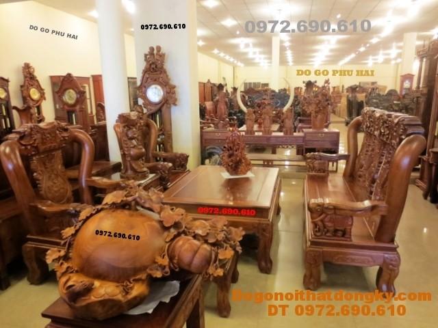 Bộ bàn ghế đồng kỵ gỗ hương mẫu quốc voi QV<>62
