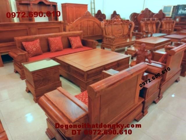 Bộ bàn ghế đồng kỵ gỗ hương kiểu mới B<>66