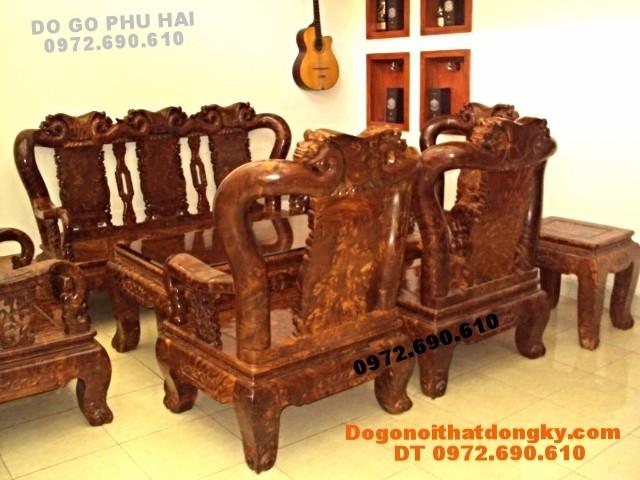 Bộ bàn ghế gỗ nu nghiến Mẫu quốc hồng C12 QH<>73