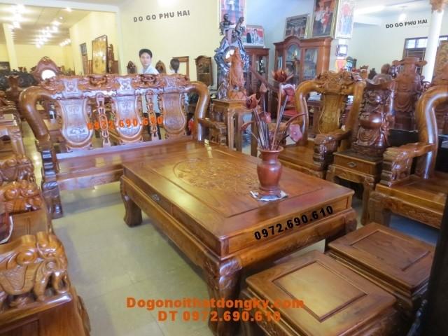 Bàn ghế gỗ đinh hương mẫu quốc voi QV<>74