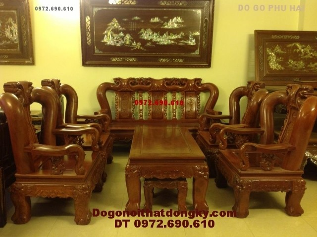 Bộ bàn ghế gỗ đinh hương quốc đào vai 14 QD<>78