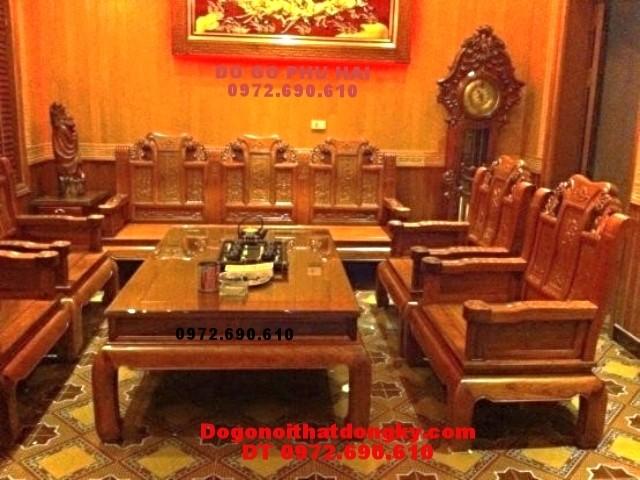 Bàn ghế phòng khách đẹp, đồ gỗ đồng kỵ mẫu như ý NY<>79