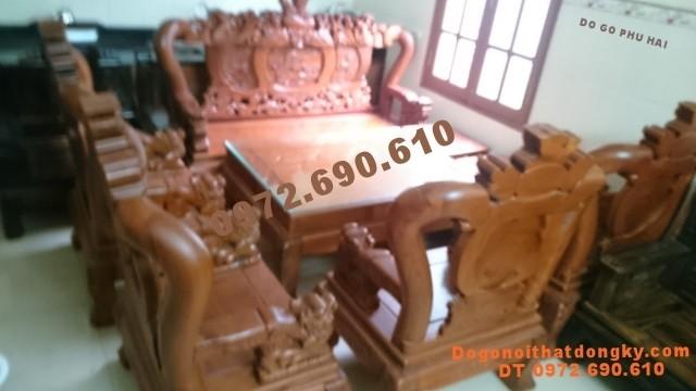 Bộ bàn ghế gỗ hương đẹp, Đồ gỗ đồng kỵ V12 B81