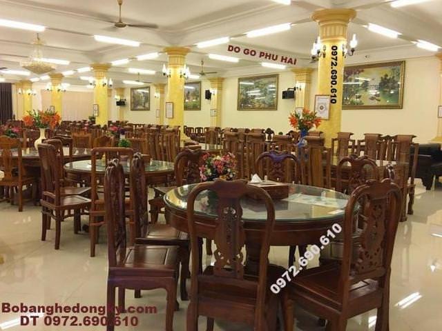 Các mẫu bàn ghế phòng ăn