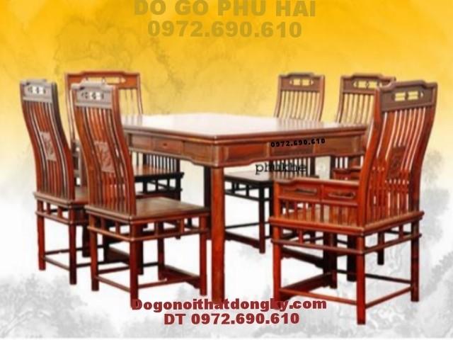 Bộ bàn ăn đẹp Bàn Chữ Nhật dogonoithatdongky.com BA49