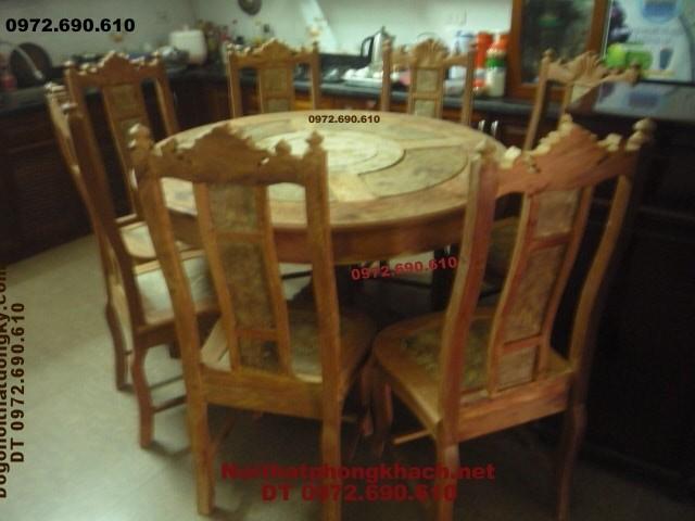 Mẫu bộ bàn ghế phòng ăn đep Kiểu bàn Tròn BT34