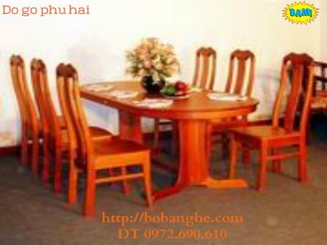 Đồ gỗ nội thất ,Bộ bàn ăn kiểu bầu dục BA14