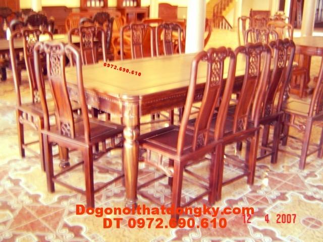 Nơi sản xuất Bộ bàn ăn kiểu bàn bầu dục BA19