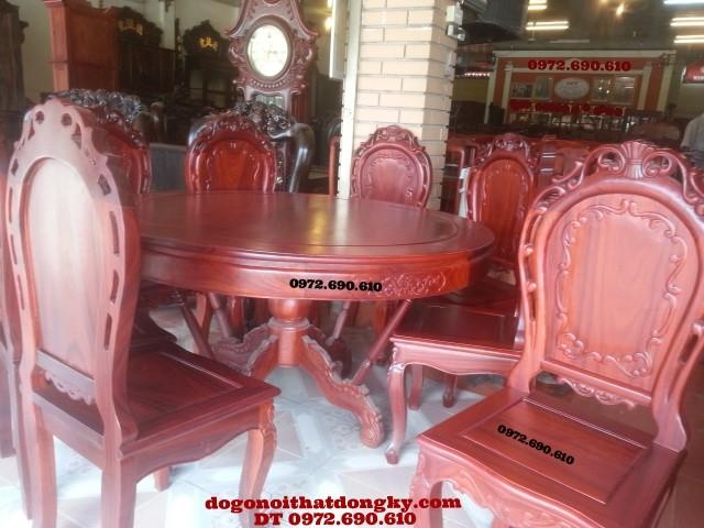 Bộ bàn ăn đẹp kiểu bàn tròn 07 món BA37