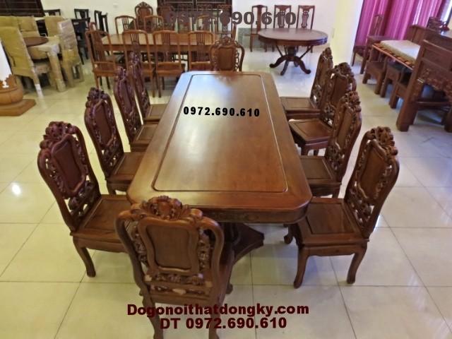Bàn ghế phòng ăn Kiểu bàn Chữ Nhật 10 ghế BA<>43