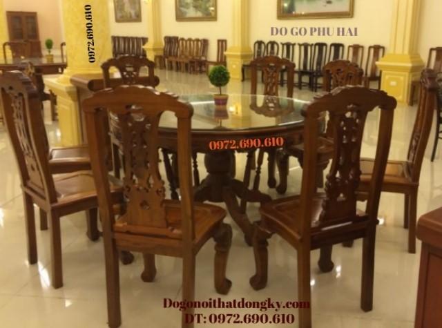 Bộ bàn ăn bàn tròn - Bộ bàn ghế ăn đẹp BA60