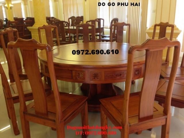 Bộ bàn ghế phòng ăn đẹp giá rể Kiểu bàn tròn BA62