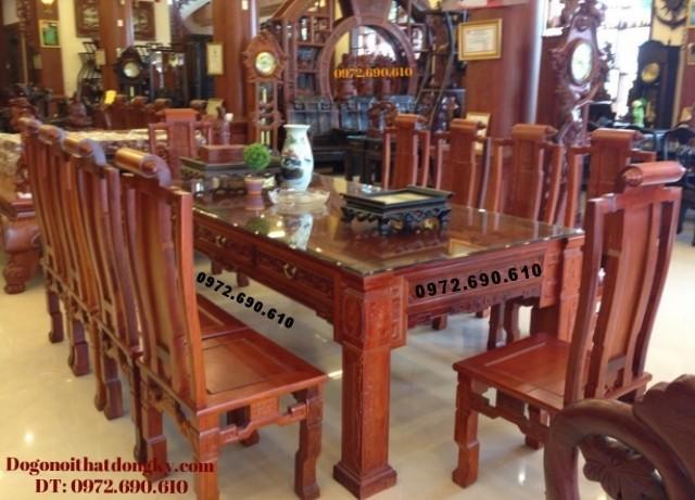 Bộ bàn ăn đẹp giá rẻ bàn chữ nhật BA64