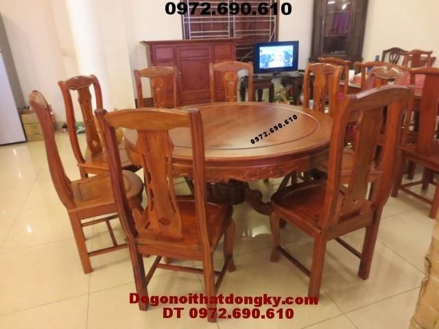 Bộ bàn ghế phòng ăn bàn Tròn gỗ đinh hương BA<>46